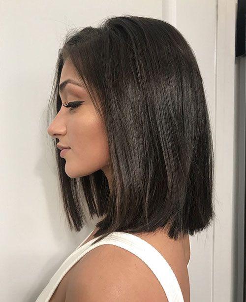 25 Blunt Lob Hairstyles For A Totally Nice Look Bob Haircut And Hairstyle Ideas In 2020 Brown Hair Long Bob Rich Brown Hair Hair Styles