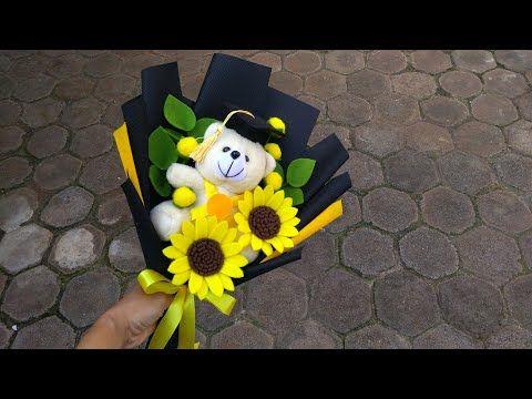 Diy Graduation Doll Bouquet Felt Flowers Cara Membuat Buket Boneka Wisuda Bunga Flanel Youtube Graduation Diy Felt Flower Bouquet Felt Bouquet