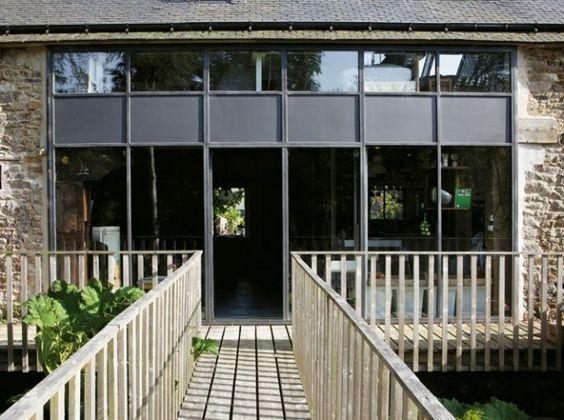baie vitree exterieure passerelle pinterest. Black Bedroom Furniture Sets. Home Design Ideas