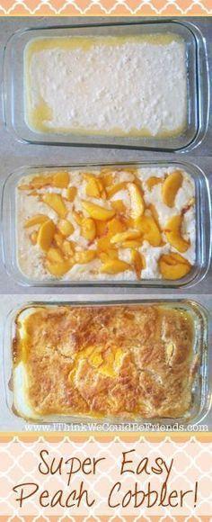 Super Easy Peach Cobbler Recipe
