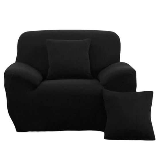 Fashion Single Person Sofa Slipcovers Modern Style Couch Covers-Black $41.42