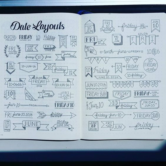 Beautiful Header Examples #headers #bulletjournal #bujo by Abby H. from Bullet Journal Junkies FB Group: