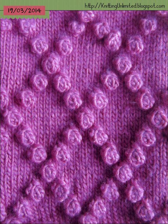 Diamond Bobble Stitch Knitting Unlimited: Bobble Stitch Patterns Knitting.....