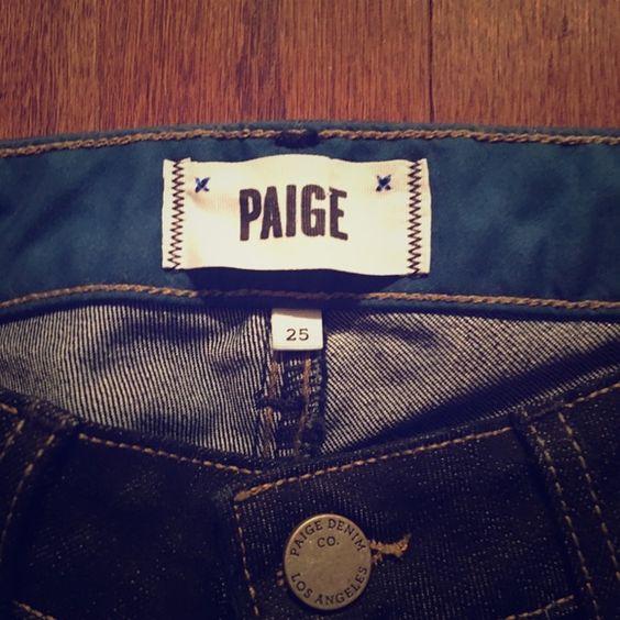 Paige Jeans. Style: Skyline Skinny. Dark denim. Paige Jeans. Style: Skyline Skinny. Dark denim. New, with tags. Never been worn. Original price $180.00 Paige Jeans Jeans Skinny