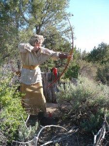 Shooting primitive archery