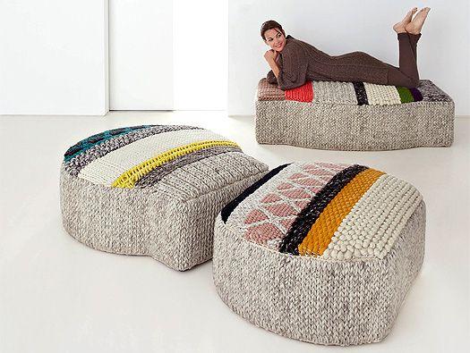 colección MANGAS  pufs y alfombras