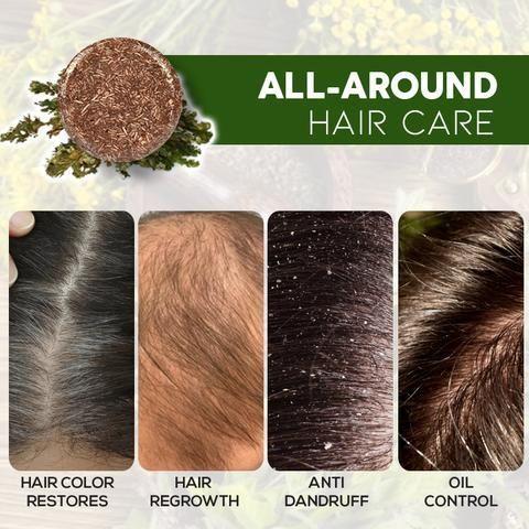 Revelyc Organic Hair Darkening Shampoo Bar Unisex Organic Hair Shampoo Bar Damaged Hair Follicles