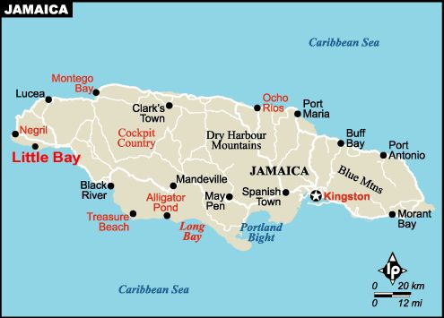 Map of Montego Bay Jamaica from CaribbeanOnLine  Places were