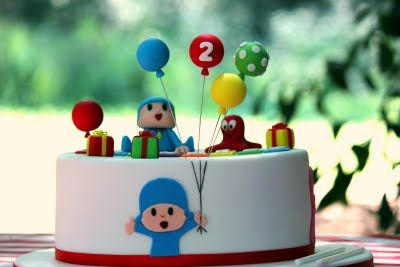 POCOYO cake  http://bimbynhazita.blogspot.pt/2011/06/bolo-de-aniversario-pocoyo-friends.html