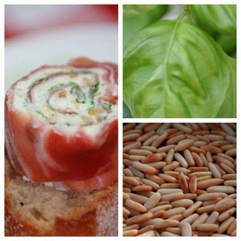mein i tüpfelchen: Parmaschinken-Ricotta-Röllchen (auf Röstbaguette)