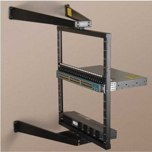Tripp Lite 12u Wall Mount 2 Post Open Frame Rack Hinged Pivoting Flat Pack Srwo12us Rack Mounting Accessories Cdw Com Open Frame Hinges For Cabinets Tripp Lite