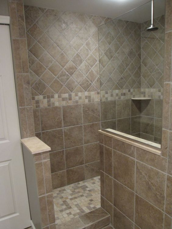 Bathroom The Required Size Of Doorless Walk In Shower Doorless Shower Design Master Bath