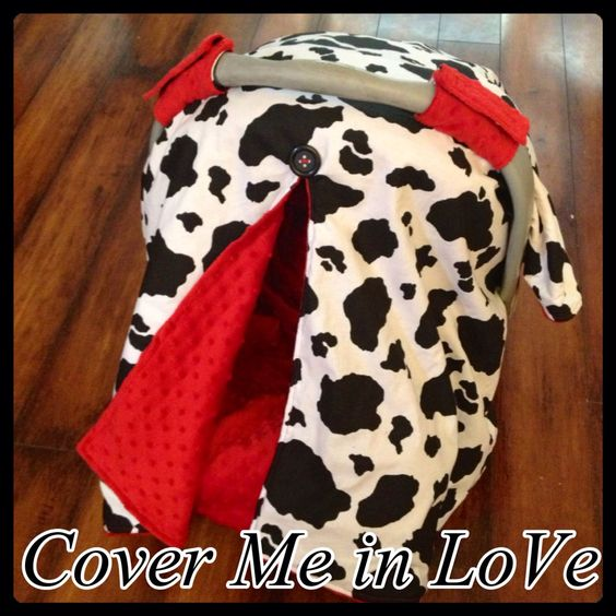 cow print and red minky car seat canopy cars cow print and car seats. Black Bedroom Furniture Sets. Home Design Ideas