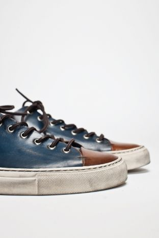BUTTERO  Tanino Low Leather Two Tone