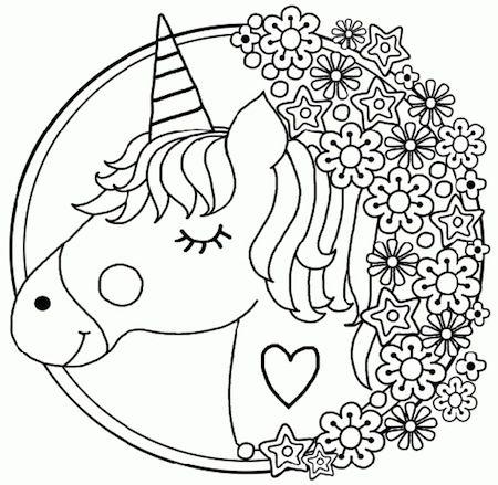Disegno Di Unicorno Per Bambini In Stile Mandala Da Stampare E Colorare Disegni Di Mandala Da Colorare Mandala Pagine Da Colorare Per Bambini
