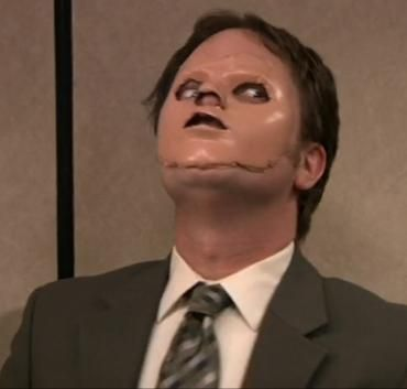 Image result for picture of dwight schrute face cut off