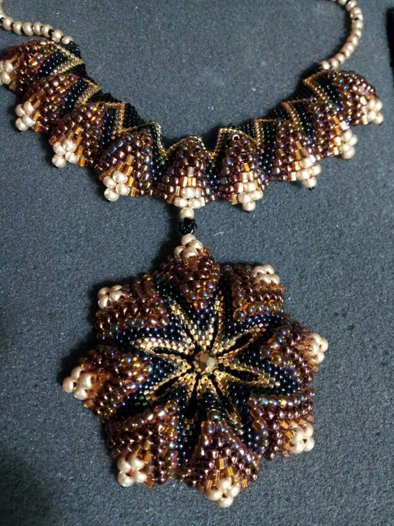 Beads, Fun and Flower pendant on Pinterest
