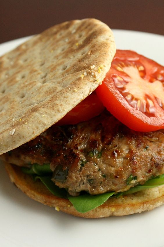 Asian-style Turkey Burger. These are AWESOME...I love the caramelized onions in these burgers.