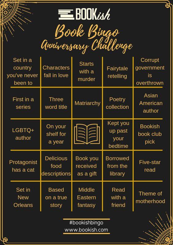 One Year of Bookish Bingo: Our Anniversary Challenge | Bookish