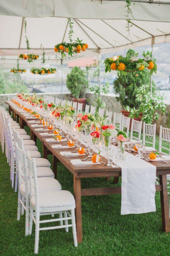 grande tente mariage orange