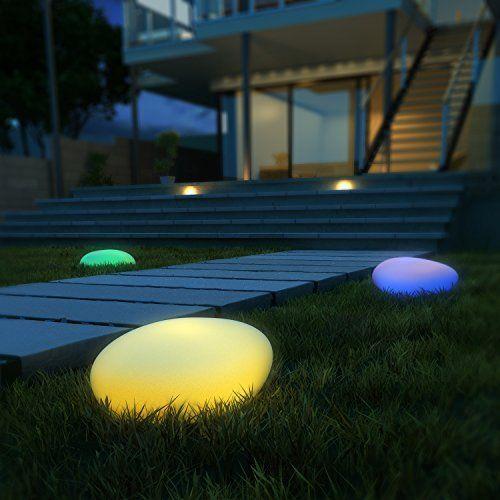 Led Leuchtball Lichtball Leuchtkugel Garten Lampe Beleuchtung 50 Cm Amazon De Kuche Haushalt Solarleuchten Solarleuchten Garten Leuchtkugeln Garten