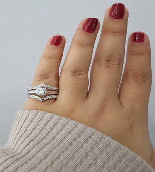 14k White Gold Round 1 4 Ct Diamond Wedding Ring Peak Wrap Enhancer Anniversary By Rg D Engagement Bridal Wedding Ring Jewelry Fashio Diamond Wedding Rings