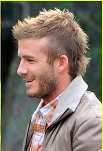 "Currently rocking the ""David Beckham faux hawk"". <3"