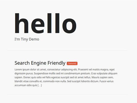 free wordpress responsive theme made with love for bloggers around the globe  http://www.csshero.org/themes/tiny/