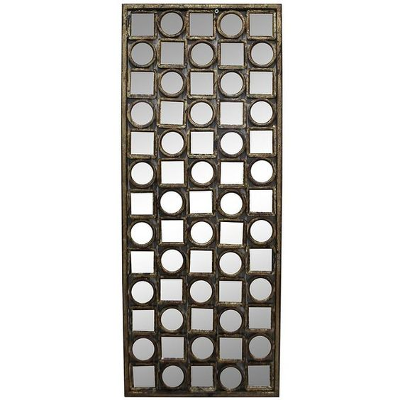 Vertical Metal Wall Decor Kohl's Circles & Squares Mirrored Wall Decor $41 ❤ Liked On