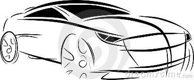 Vector car sketch