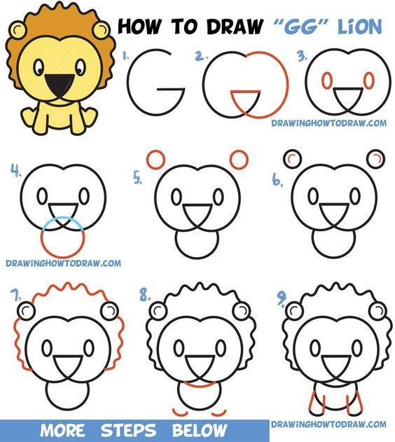 Cara Menggambar Singa dengan Contohnya