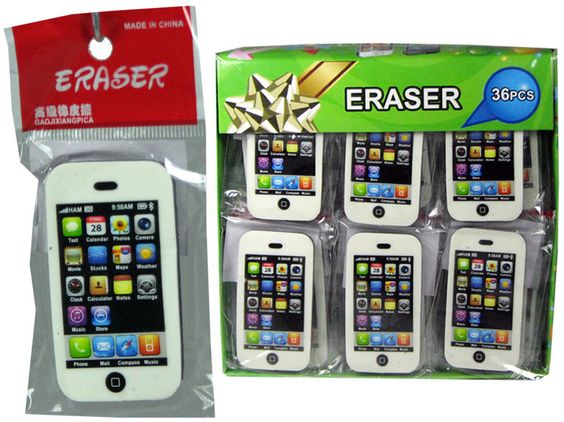 Radierer im Smartphone Design, Stück ab 1€