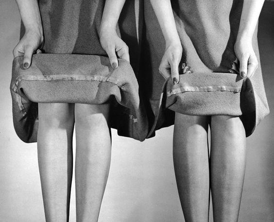 From an April 20, 1942, LIFE story about proper skirt-hem lengths  Read more: Photographer Spotlight: Nina Leen | LIFE.com http://life.time.com/photographers/photographer-spotlight-nina-leen/#22#ixzz3Hlvq79fU
