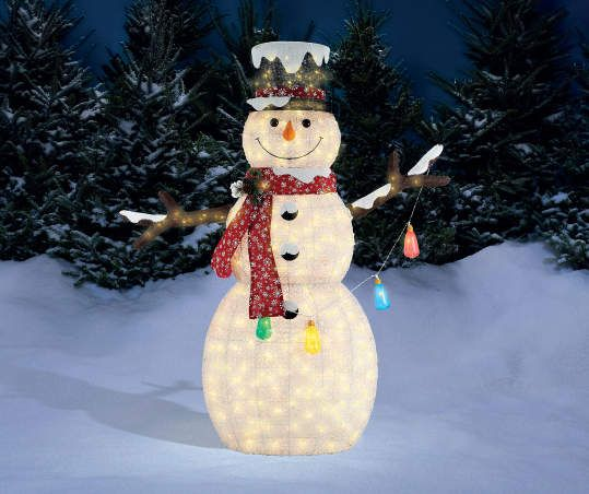 Winter Wonder Lane Light Up Snowman With Christmas Lights 6 Outdoor Christmas Decorations Christmas Decorations Outdoor Christmas