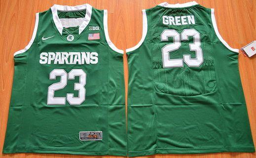 Michigan State Spartans #23 Draymond Green Green College Basketball Nike Jersey