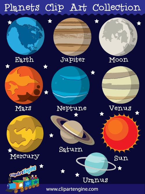 the 9 planets clip art - photo #3