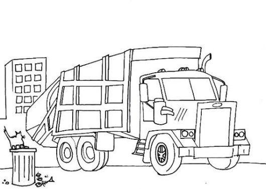 Garbage And Recycle Dump Truck Coloring Page Sheet Camion De Basura Basura Frases Futbol Motivacion