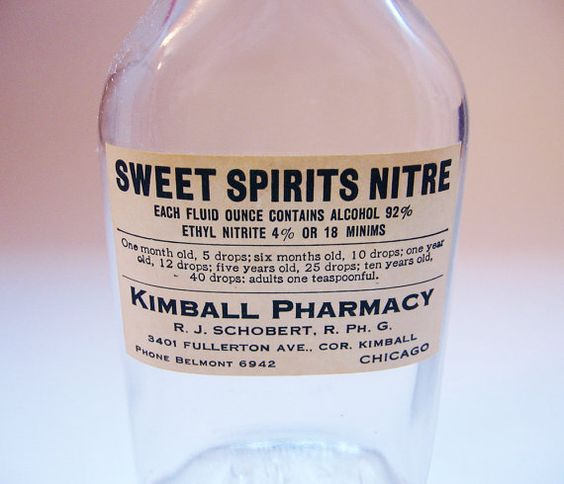 Vintage Bottle Pharmacy Sweet Spirits Nitre by UncommonShop, $7.00