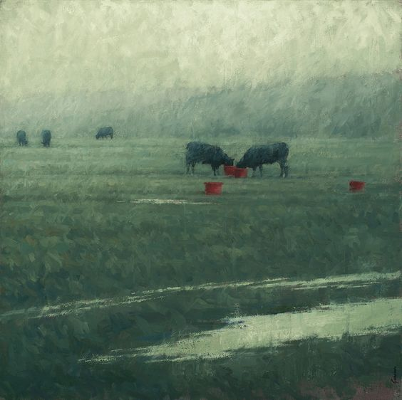 Red Buckets and Wet Fields