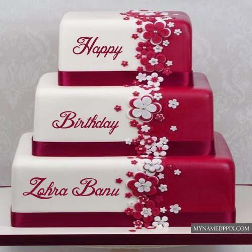 Beautiful Layered Birthday Cake With Name Editor Photo Online My Name Pix Cards Birthday Cake Write Name Birthday Cake Writing Cake Name