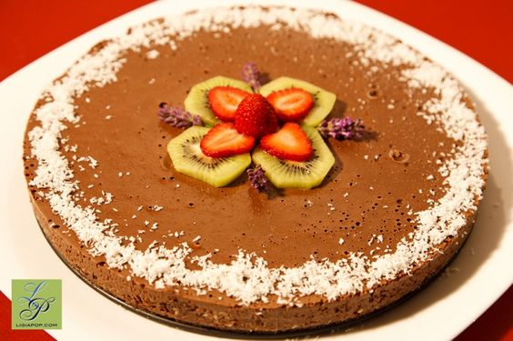 Chocolate cake with mint