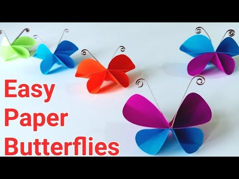 How To Make Easy Paper Butterflies Paper Butterflies Making Easy Paper Butterfly Diy Butterfly Youtube In 2020 Paper Butterflies Paper Butterfly Diy Butterfly