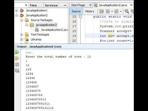 Number Pattern In Java Number Patterns Computer Programming Java