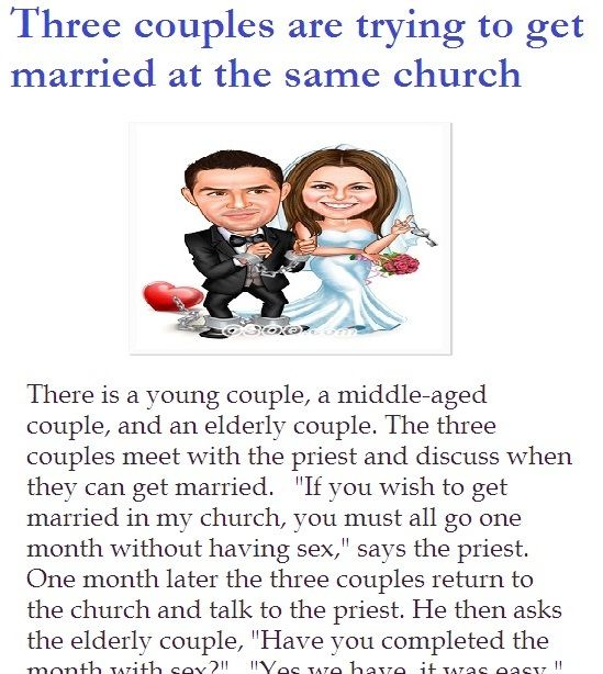 Three Husband And Wife Are Trying To Get Married At The Same Church Wife Jokes Getting Married Got Married