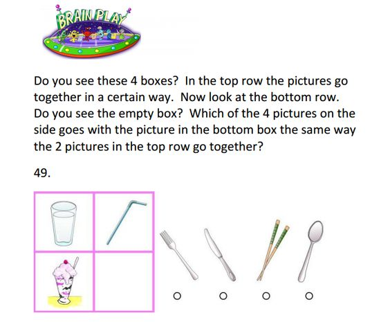 Practice Matrix Question for the WPPSI-IV (Wechsler Preschool and ...