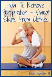 Sweat Stains How To Remove And To Remove On Pinterest