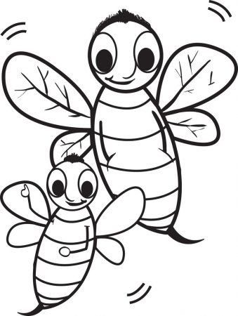 Cute Bee Coloring Pages Bee Coloring Pages Coloringcks Owl Coloring Pages Bee Coloring Pages Insect Coloring Pages