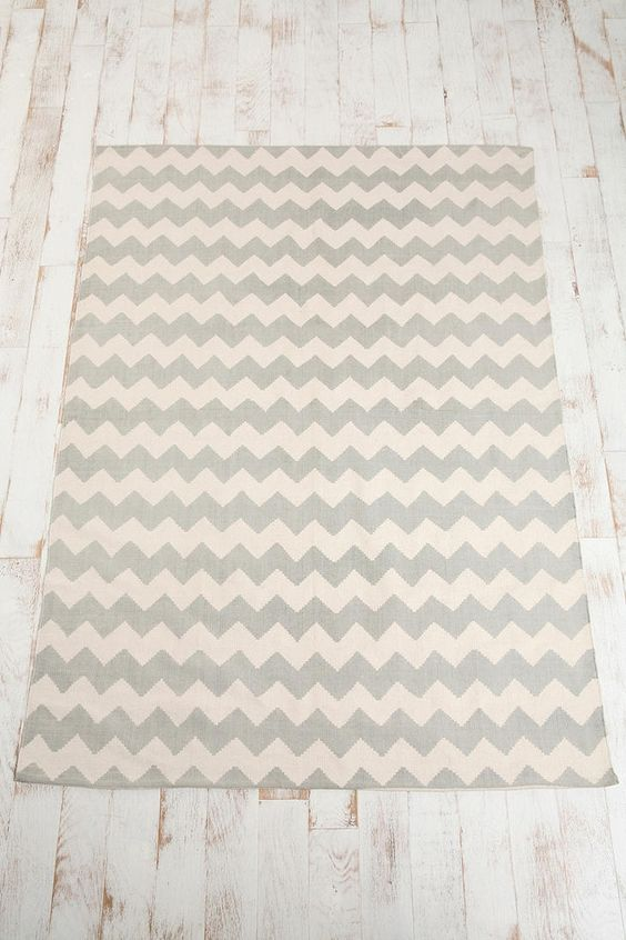 Zigzag ie chevron printed rug from urban outfitters for Cute rugs for cheap