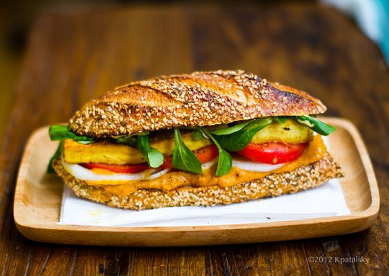 Crispy Tofu Sandwich with Sweet Potato-Pumpkin Spread. - Healthy. Happy. Life.