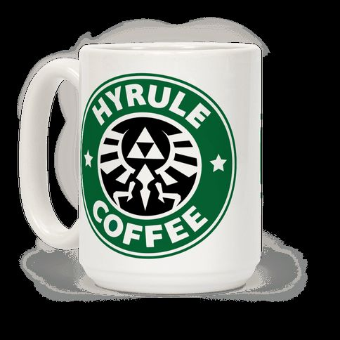 Caffeine and gaming, a match made in heaven! Protect Princess Zelda right after you've had your morning coffee with this super nerdy, video game inspired coffee mug! | HUMAN